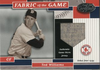 2002 Leaf Certified Fabric of the Game #26DY Ted Williams/39