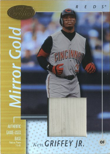 2002 Leaf Certified Mirror Gold #145 Ken Griffey Jr. Base