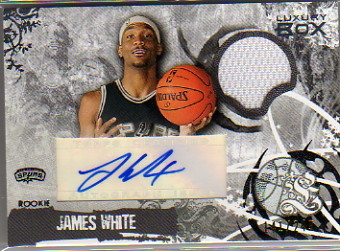 2006-07 Topps Luxury Box Rookie Relics Autographs #JW James White
