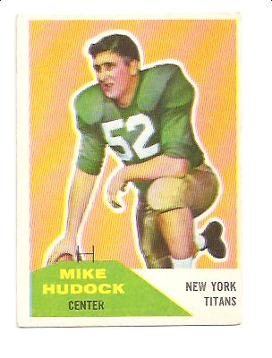 1960 Fleer #23 Mike Hudock RC