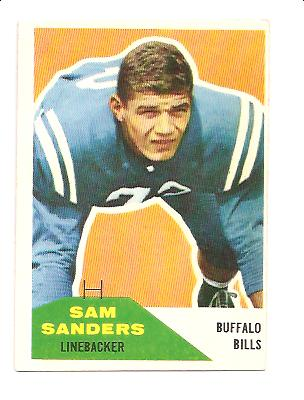 1960 Fleer #57 Sam Sanders RC