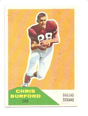 1960 Fleer #81 Chris Burford RC