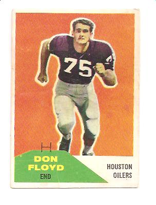 1960 Fleer #113 Don Floyd RC