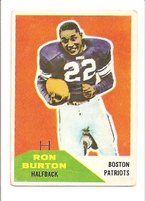 1960 Fleer #130 Ron Burton RC