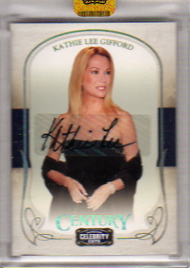 2008 Celebrity Cuts Century Signature Gold #52 Kathie Lee Gifford/200
