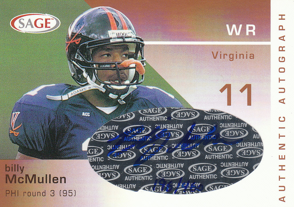 2003 SAGE Autographs Bronze #A30 Billy McMullen/460