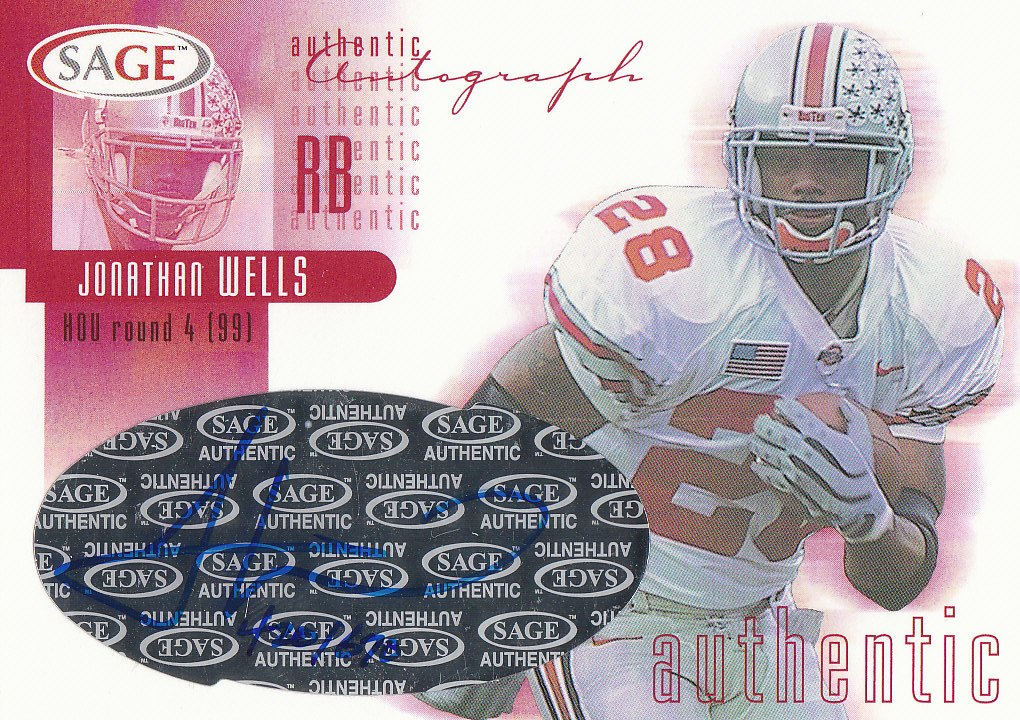 2002 SAGE Autographs Red #A45 Jonathan Wells/680