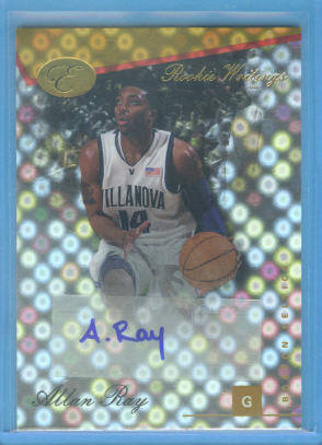 2006-07 Bowman Elevation Rookie Writing Autographs Gold #AR Allan Ray/79