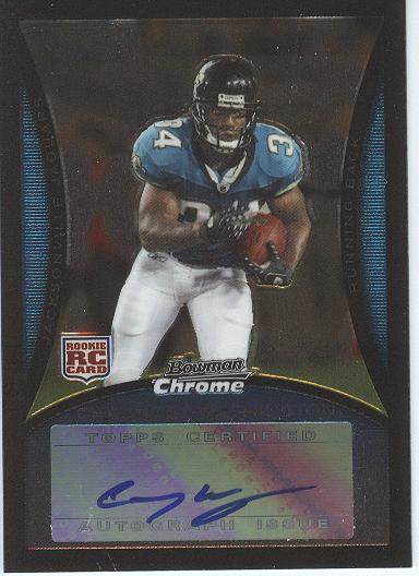 2008 Bowman Chrome Rookie Autographs #BC81 Chauncey Washington G