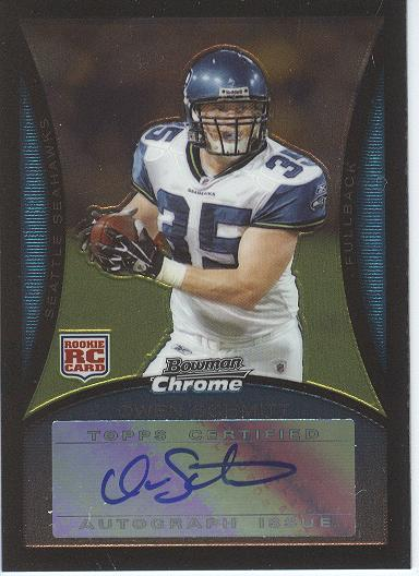 2008 Bowman Chrome Rookie Autographs #BC106 Owen Schmitt G