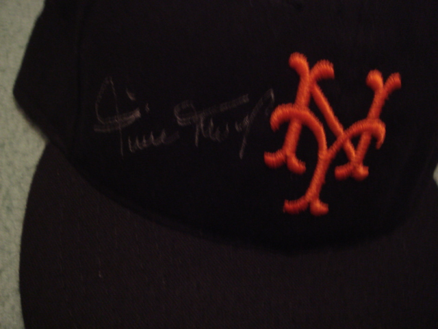 Willie Mays Autographed New York Giants Cap With PSA COA