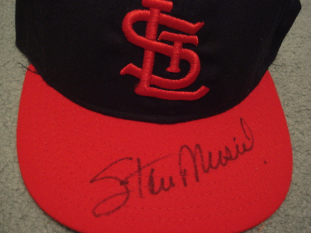 Stan Musial Autographed St. Louis Cardinals Cap With PSA COA