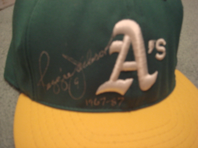 Reggie Jackson Autographed Oakland A'S Cap With PSA COA
