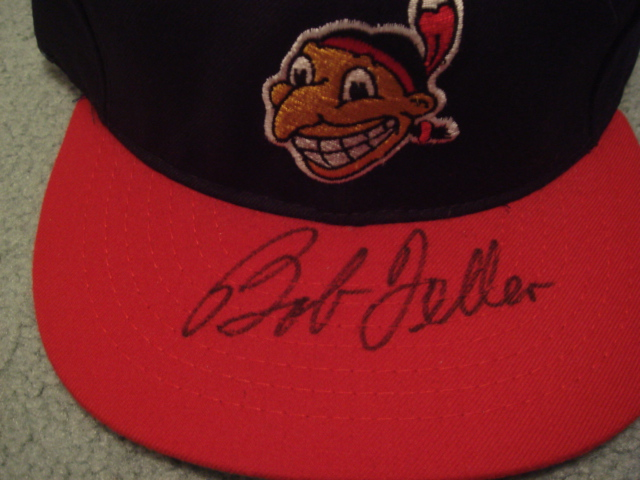 Bob Feller Autographed Cleveland Indians Cap with COA
