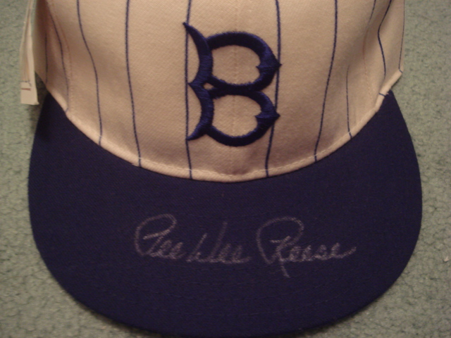 Pee Wee Reese Autographed Brooklyn Dodgers Cap With PSA COA