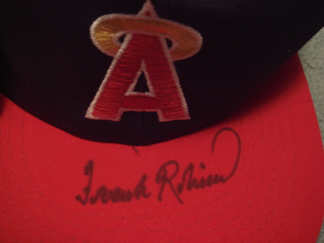 Frank Robinson Autographed California Angels Cap With COA