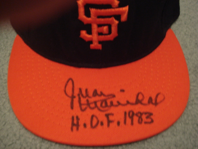 Juan Marichal Autographed San Francisco Giants Cap With HOF 1983 Ins. With COA