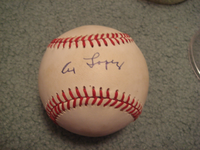 Al Lopez Autographed Official AL Baseball with PSA COA