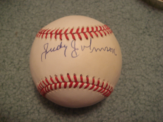 Judy Johnson Autographed NL Baseball with PSA COA