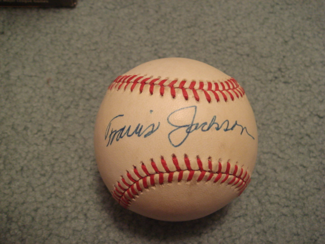 Travis Jackson Autographed NL Baseball With PSA COA