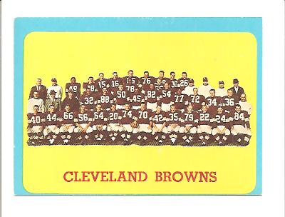 1963 Topps #24 Cleveland Browns SP