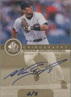 1999 SP Authentic Chirography Gold #NG Nomar Garciaparra/5 front image