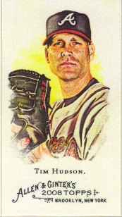 2008 Topps Allen and Ginter Mini #221 Tim Hudson