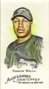 2008 Topps Allen and Ginter Mini A and G Back #81 Vernon Wells