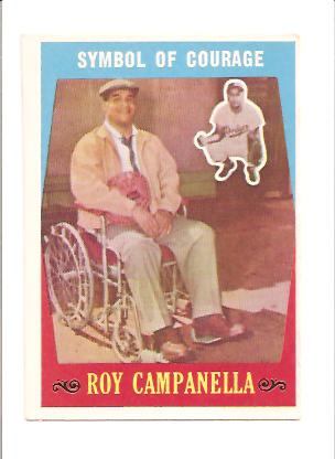 1959 Topps #550 Roy Campanella (Symbol of Courage) front image