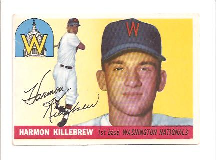 1955 Topps #124 Harmon Killebrew RC