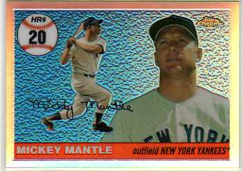 2006 Topps Chrome Mantle Home Run History Refractors #MHRC20 Mickey Mantle