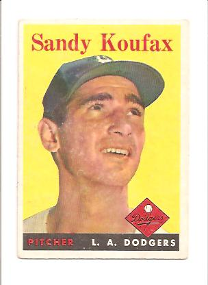 1958 Topps #187 Sandy Koufax front image