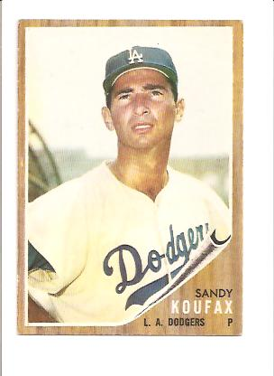 1962 Topps #5 Sandy Koufax UER (Struck ou 18)
