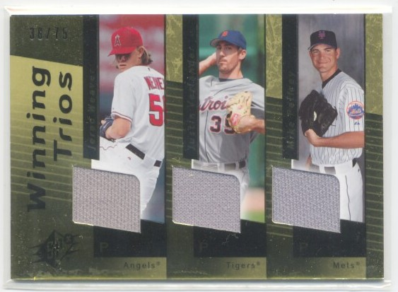 2007 SPx Winning Trios Gold #WT28 Jered Weaver/Justin Verlander/Mike Pelfrey