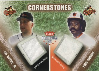 2002 Fleer Platinum Cornerstones Memorabilia #2 Cal Ripken Jsy/Eddie Murray Jsy