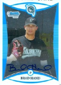 2008 Bowman Chrome Draft Prospects #BDPP124 Brad Hand AU