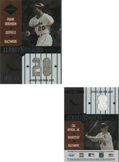 2003 Leaf Limited Jersey Numbers #86 Frank Robinson/Cal Ripken/10