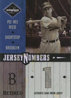 2003 Leaf Limited Jersey Numbers Retired #37 Pee Wee Reese/1