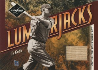 2003 Leaf Limited Lumberjacks Bat Black #19 Ty Cobb/5