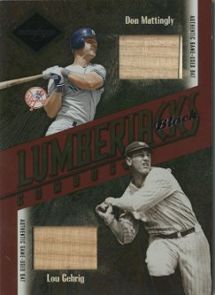 2003 Leaf Limited Lumberjacks Bat Black #40 Don Mattingly/Lou Gehrig/5