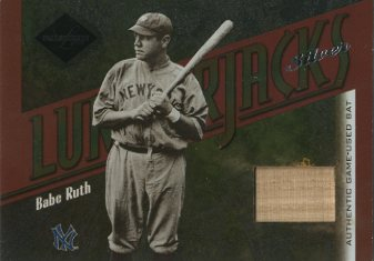 2003 Leaf Limited Lumberjacks Bat Silver #1 Babe Ruth/10