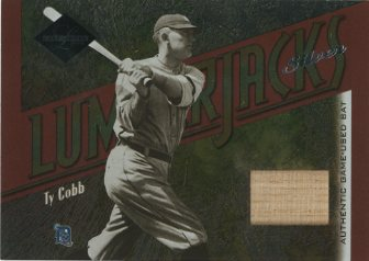 2003 Leaf Limited Lumberjacks Bat Silver #19 Ty Cobb/10