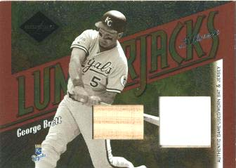 2003 Leaf Limited Lumberjacks Bat-Jersey Silver #11 George Brett/10