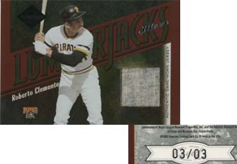 2003 Leaf Limited Lumberjacks Jersey Silver #3 Roberto Clemente/3