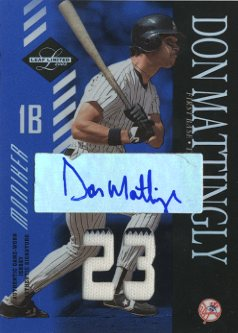 2003 Leaf Limited Moniker Jersey Number #162 Don Mattingly/5