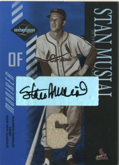 2003 Leaf Limited Moniker Jersey Number #163 Stan Musial/5