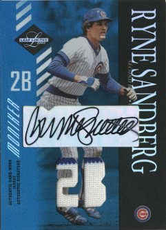 2003 Leaf Limited Moniker Jersey Position #169 Ryne Sandberg/5