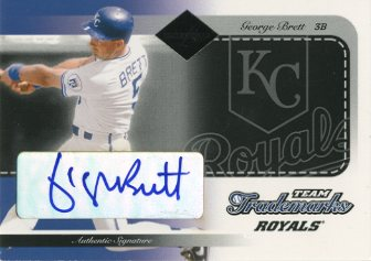 2003 Leaf Limited Team Trademarks Autographs #33 George Brett/5