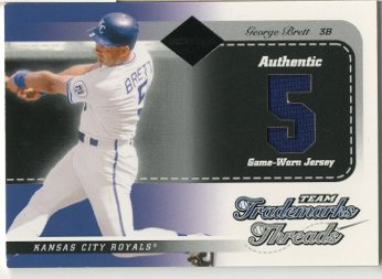 2003 Leaf Limited Team Trademarks Threads Number #33 George Brett/5