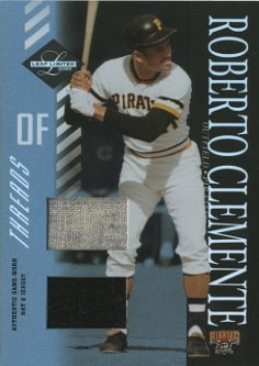 2003 Leaf Limited Threads Double #157 Roberto Clemente Hat-Jsy/5